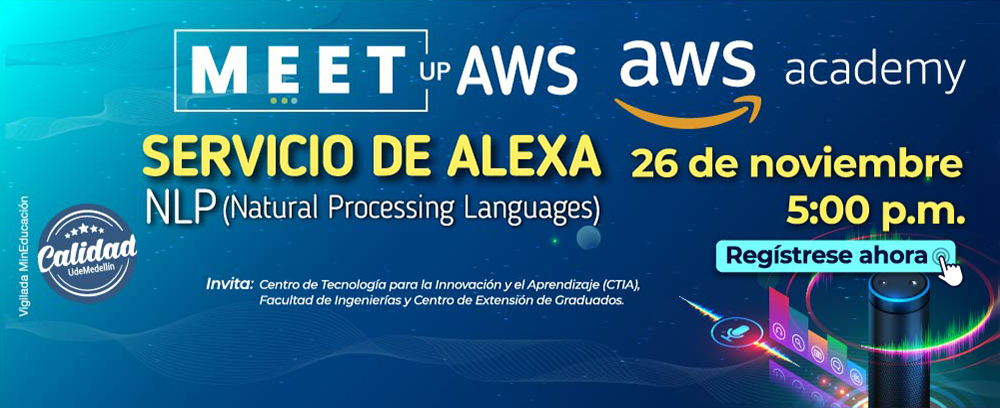 Banner MEET UP AWS UdeMedellin 2020 26 NOV